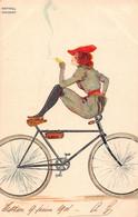 KIRCHNER Raphael - Art Nouveau - Serie All Heil- -voyagée - Superbe - (illu-132) Cycliste - Kirchner, Raphael
