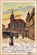 All063 MUNCHEN St. PETERSKIRCHE 1901 à Adolf ZIMMERMANN Mouscron Belgium - Litho MANNER KURSCHNER - Muenchen