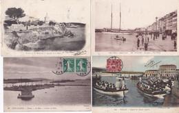 83 – TOULON – Lot De 4 Cartes Postales Anciennes. - Toulon