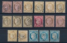 """P-364: FRANCE: Lot Avec """"Classiques"""" Entre N°54 Et 60 - 1871-1875 Ceres"""
