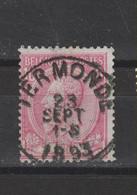 COB 46 Centraal Gestempeld Oblitération Centrale TERMONDE - 1884-1891 Leopold II