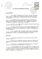 1957 - CONSEIL ECONOMIQUE ET SOCIAL 1er Jour Le 22-10-1977, Sur Document 4 Pages, Signé DECARIS - 1970-1979