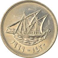 Monnaie, Kuwait, Jabir Ibn Ahmad, 50 Fils, 1999/AH1420, SPL, Copper-nickel - Kuwait