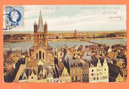 All277 ⭐ KÖLN MARTINSVIERTEL U. Blick Auf Deutz Koeln Cologne 1907 à Marius BOUTET Port-Vendres HÖLZERMANNDÜRER 13 - Koeln