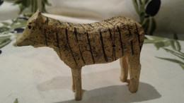 ANCIEN JOUET , ZEBRE En Bois Peint   ERZGEBIRGE , Fin XIX . - Toy Memorabilia
