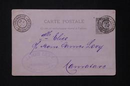 MADAGASCAR - Entier Postal Type Alphée Dubois De Tananarive Pour Tamatave En 1889  - L 82524 - Brieven En Documenten