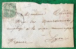 Suisse N°45 Sur DEVANT De Lettre TAD GENEVE 1876 - (B372) - Unclassified
