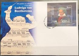 Bosnia And Hercegovina, 2020, ''250 Years Since The Birth Of Ludwig Van Beethoven'' , FDC (MNH) - Bosnia Herzegovina