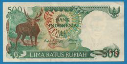 INDONESIA 500 Rupiah 1988 # EDS287817  P# 123 Rusa Deer - Indonesia