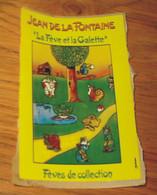 """Autocollant Fèves De Collection Jean De La Fontaine """"la Fève Et La Galette"""" 8.5 X 5.5 - Unclassified"""