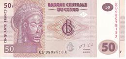 BILLETE DE EL CONGO DE 50 FRANCS DEL AÑO 2013 SIN CIRCULAR (BANK NOTE) UNCIRCULATED - Republik Kongo (Kongo-Brazzaville)
