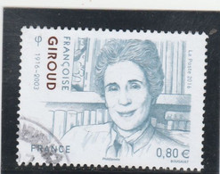 FRANCE 2016 FRANCOISE GIROUD OBLITERE  YT 5079 - Used Stamps