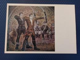 """. """"Old Archers"""" By Boldyrev  - OLD USSR Postcard -1976 - ARCHERY - Arch - Chechnya"""