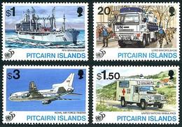 Pitcairn 1995 Blue Helmets Casques Bleus 50 Years  Airplane Lockheed Tri-Star Avion, Camion, Bateau, Jeep, Ship, Truck - UNO