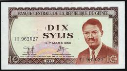 GUINEE -  BILLET DE 10 SYLIS - 1971 - UNC - Guinea