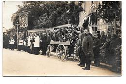 Barbazan ? -montréjeau ? - Carte Photo D'une Cérémonie Funéraire Militaire .- A. Candie Photo De Barbazan ./ Montréjeau. - Barbazan