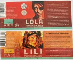 Etiketten 2q9 Lila & Lola Brewery La Grande D'Ame - Beer