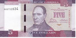 BILLETE DE LIBERIA DE 5 DOLLARS DEL AÑO 2016 SIN CIRCULAR (BANK NOTE) UNCIRCULATED - Liberia