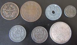 Luxembourg - 7 Monnaies Dont 5 Centimes 1854 Et 10 Francs 1929 En Argent - Luxemburg