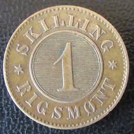 Danemark / Danmark - Monnaie 1 Skilling Rigsmont 1872 - Dänemark