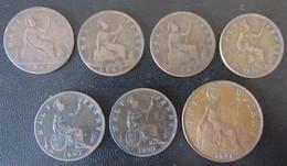 Grande / Bretagne / Great Britain - 7 Monnaies : Half Penny 1861 à 1890 + One Penny 1921 - Sammlungen
