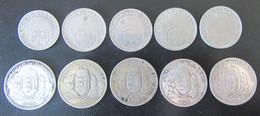 Hongrie (Magyar) - 10 Monnaies : 10 Et 20 Filler 1926 (5 Pièces) - 1 Pengo 1926, 1927 En Argent (5 Pièces) - Ungarn