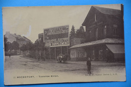 Rochefort 1907: La Taverne Biron Animée Avec Attelage - Rochefort