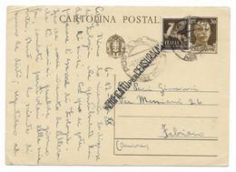 DA P.M.38 N A FABRIANO - 6.12.1942 - VERIFICATA DALLA CENSURA. - Stamped Stationery