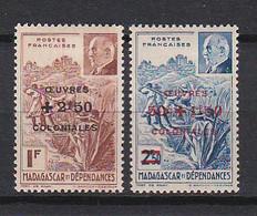 Ou062 MADAGASCAOR YvT N° 284 285 N - Unused Stamps