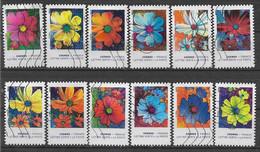 2020 FRANCE Adhesif 1851-62 Oblitérés, Fleurs Cosmos, Série Complète - KlebeBriefmarken