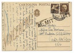 DA MILANO A P.M.156 ( RUSSIA ) - 28.1.143 - RITORNATA AL MITTENTE - BATTAGLIA DEL DON. - Stamped Stationery