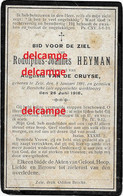 Oorlog Guerre Rodolph Heyman Zele Gesneuveld Bombardement D'une Usine De Munitions Bousbecque Wervik Sud FR 26 Juni 1918 - Devotieprenten