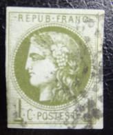 &161D& FRANCE YVERT 39 USED. - 1870 Bordeaux Printing