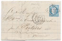 TIMBRES N° 60/1;  LETTRE  ; GRANDE CASSURE ;146 A2/  2 ème état  RARE TB - 1871-1875 Cérès