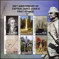 Papua New Guinea 2018. Capt. Cook's First Voyage (MNH OG) Miniature Sheet - Papúa Nueva Guinea
