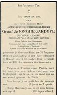 ST. GENESIUS-RODE / BRUSSEL - Andreas Augustus Graaf De JONGHE D'ARDOYE - Luitenant-Generaal - °1861 En +1936 - Devotion Images