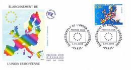 Enveloppe 1er Jour, élargissement De L'union Européenne, 2004 - Yt 3666 - 2000-2009