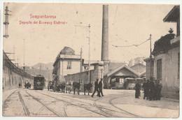 Sampierdarena - Deposito Dei Tramway Elettrici - Cartolina Postale Pour Mademoiselle Paulette Janin  Chalon Sur Saône 71 - Genova (Genoa)