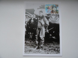 CARTE MAXIMUM CARD L'AVIATEUR AMERICAIN CHARLES LINDBERGH A SON ARRIVEE A PARIS APRES SA TRAVERSEE DE L'ATLANTIQU FRANCE - Vliegtuigen