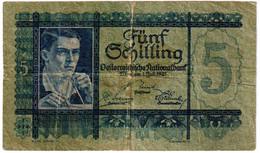 AUSTRIA , 5 SHILLING 1.7.1927. P-93 - Austria