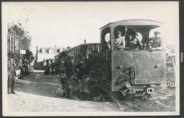 Format CPA Photo Cartonnée Tirage Tardif - Tramway De Rotheneuf - Terminus - Très Belle Qualité - Voir 2 Scans - Rotheneuf