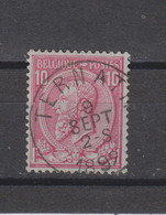 COB 46 Centraal Gestempeld Oblitération Centrale TERNATH - 1884-1891 Leopold II