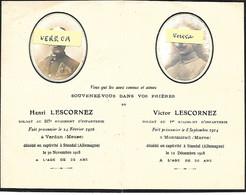 MILAIRE - Henri Et Victor LESCORNEZ , à Stendal Le 30/11:1918 Et Le 12/12/1918 - SUP - Obituary Notices