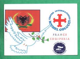 Albania France Albanie 1996 Camions De L ' Esperance Centre Michel Colucci ( Coluche ) - Albania