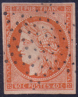 """40c Orange De 1850 TB Mais *FAUX* (Dallay N° 5, Cote De L""""orginal: 600€) - 1849-1850 Ceres"""