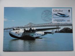 CARTE MAXIMUM CARD PAN AMERICAN WORLD AIRWAYS BOEING 314 GIBRALTAR - Airplanes