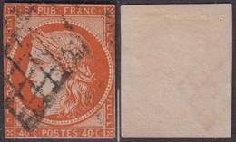 40c Orange Vif De 1850 Défectueux à -20€ ! (Dallay N° 5b, Cote 750€) - 1849-1850 Ceres