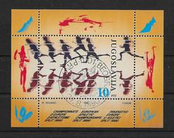 Jugoslawien 1990 Sport Block 37 Gestempelt - Gebraucht
