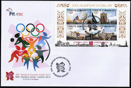 2012 Turkey Summer Olympic Games In London FDC - Summer 2012: London