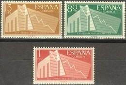 España 1956. Estadística. Ed 1196 / 1198. MNH. **. - 1951-60 Ungebraucht